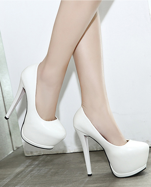 Giày cao gót đơn giản màu đen cao 15cm GCG0201